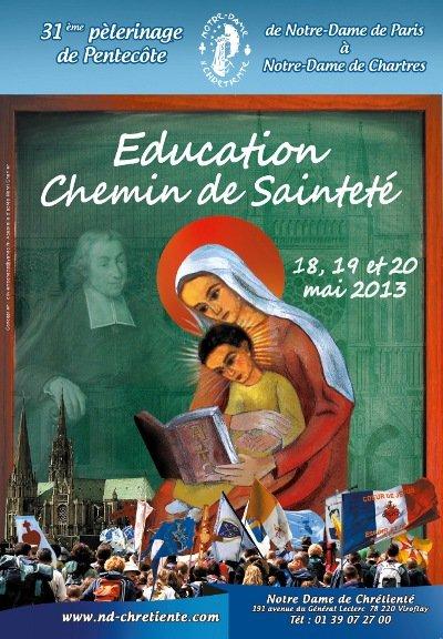 Pèlerinage de Chartres 2013 dans Activités affiche-pele-2013