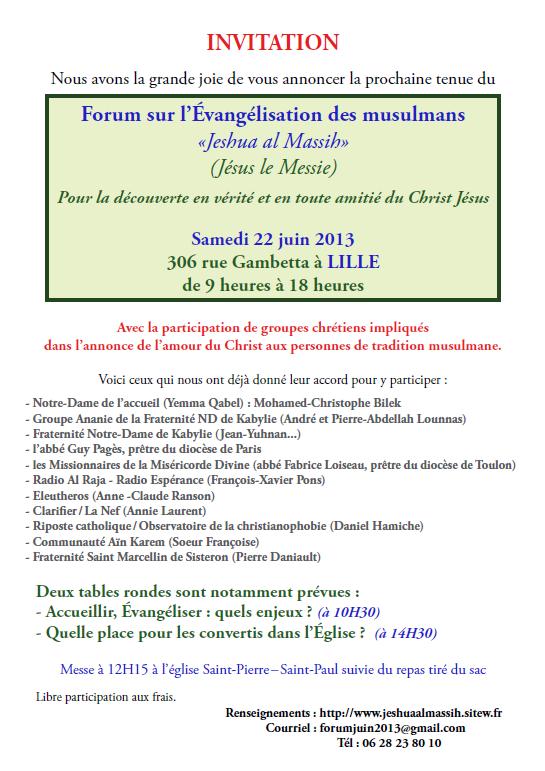 Forum sur l'évangélisation des musulmans dans Activités forum-evangelisation-musulmans
