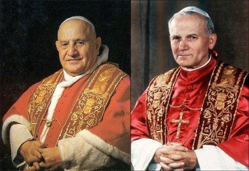 canonisations Jean XXII et Jean-Paul II